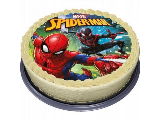 Bardzo gruby opłatek na tort spider-man duży 20 cm
