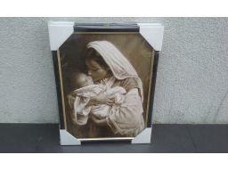 Obraz matka boska z dzieciątkiem madonna grawer