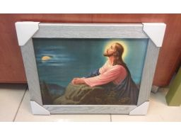 Obraz jezus modlący frasobliwy unikat tanio