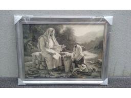 Obraz jezus u studni unikat duży unikat